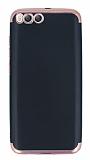 Eiroo Matte Fit Xiaomi Mi 6 Rose Gold Kenarlı Siyah Silikon Kılıf