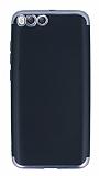 Eiroo Matte Fit Xiaomi Mi 6 Dark Silver Kenarlı Siyah Silikon Kılıf