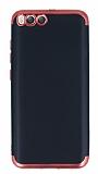 Eiroo Matte Fit Xiaomi Mi 6 Kırmızı Kenarlı Siyah Silikon Kılıf