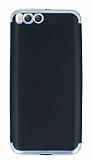 Eiroo Matte Fit Xiaomi Mi 6 Silver Kenarlı Siyah Silikon Kılıf