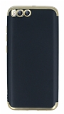 Eiroo Matte Fit Xiaomi Mi 6 Gold Kenarlı Siyah Silikon Kılıf