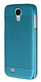 Eiroo Maxfit Samsung i9500 Galaxy S4 Ultra �nce Mavi Rubber K�l�f