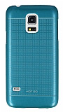 Eiroo Maxfit Samsung Galaxy S5 mini Ultra İnce Mavi Rubber Kılıf