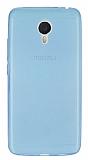 Meizu m3 note Ultra İnce Şeffaf Mavi Silikon Kılıf