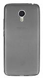 Meizu m3 note Ultra İnce Şeffaf Siyah Silikon Kılıf