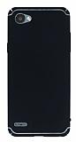 Eiroo Mellow LG Q6 Ultra Siyah Rubber Kılıf