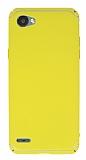 Eiroo Mellow LG Q6 Ultra Sarı Rubber Kılıf