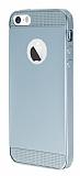 Eiroo Metallic Fit iPhone 5 / 5S Silver Silikon K�l�f