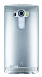Eiroo Metallic Fit LG G4 Silver Silikon Kılıf