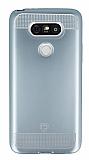 Eiroo Metallic Fit LG G5 Silver Silikon Kılıf