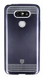 Eiroo Metallic Fit LG G5 Dark Silver Silikon Kılıf