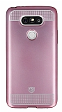 Eiroo Metallic Fit LG G5 Pembe Silikon Kılıf