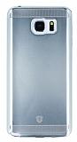 Eiroo Metallic Fit Samsung Galaxy Note 5 Silver Silikon Kılıf