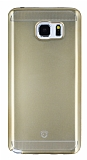 Eiroo Metallic Fit Samsung Galaxy Note 5 Gold Silikon Kılıf