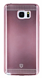 Eiroo Metallic Fit Samsung Galaxy Note 5 Pembe Silikon K�l�f