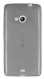 Microsoft Lumia 535 Ultra İnce Şeffaf Siyah Silikon Kılıf