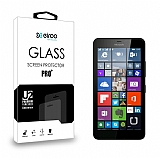 Eiroo Microsoft Lumia 640 XL Tempered Glass Cam Ekran Koruyucu