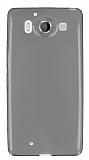 Eiroo Microsoft Lumia 950 Ultra İnce Şeffaf Siyah Silikon Kılıf