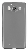 Microsoft Lumia 950 Ultra İnce Şeffaf Siyah Silikon Kılıf
