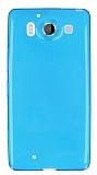 Microsoft Lumia 950 Ultra İnce Şeffaf Mavi Silikon Kılıf