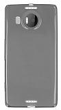 Microsoft Lumia 950 XL Ultra İnce Şeffaf Siyah Silikon Kılıf