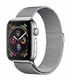 Eiroo Milanese Loop Apple Watch / Watch 2 / Watch 3 Silver Metal Kordon (42 mm)