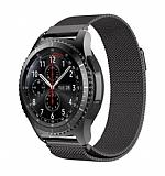 Eiroo Milanese Loop Huawei Watch GT 2e Siyah Metal Kordon (46 mm)