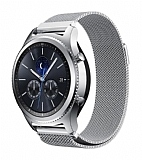 Eiroo Milanese Loop Huawei Watch GT 2e Silver Metal Kordon (46 mm)