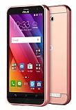 Eiroo Mirror Asus Zenfone 3 Max ZC520TL Metal Kenarlı Aynalı Rose Gold Rubber Kılıf