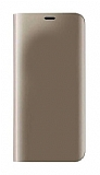 Eiroo Mirror Cover Huawei Mate 10 Lite Aynalı Kapaklı Gold Kılıf