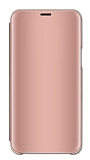 Eiroo Mirror Cover Huawei Mate 20 Pro Aynalı Kapaklı Rose Gold Kılıf