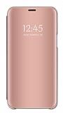 Eiroo Mirror Cover Huawei Y6 2019 Aynalı Kapaklı Rose Gold Kılıf