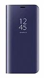 Eiroo Mirror Cover Huawei Y7 2018 Aynalı Kapaklı Lacivert Kılıf