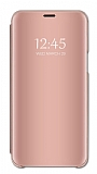 Eiroo Mirror Cover Huawei Y7 2019 Aynalı Kapaklı Rose Gold Kılıf