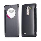 Eiroo Mirror Cover LG G4 Aynalı Kapaklı Uyku Modlu Siyah Kılıf