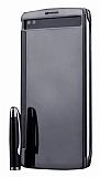 Eiroo Mirror Cover LG V10 Aynalı Kapaklı Uyku Modlu Siyah Kılıf