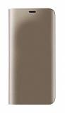 Eiroo Mirror Cover Samsung Galaxy A6 2018 Aynalı Kapaklı Gold Kılıf