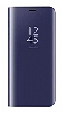 Eiroo Mirror Cover Samsung Galaxy A6 2018 Aynalı Kapaklı Lacivert Kılıf