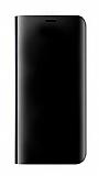 Eiroo Mirror Cover Samsung Galaxy A6 Plus 2018 Aynalı Kapaklı Siyah Kılıf