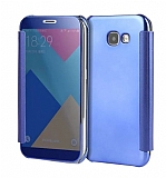 Eiroo Mirror Cover Samsung Galaxy A7 2017 Aynalı Kapaklı Dark Blue Kılıf
