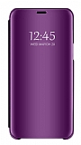 Eiroo Mirror Cover Samsung Galaxy J4 Plus Aynalı Kapaklı Mor Kılıf