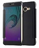 Eiroo Mirror Cover Samsung Galaxy J7 / Galaxy J7 Core Aynalı Kapaklı Siyah Kılıf