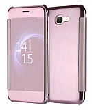 Eiroo Mirror Cover Samsung Galaxy J7 Max Aynalı Kapaklı Rose Gold Kılıf