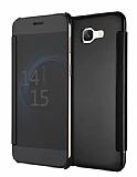 Eiroo Mirror Cover Samsung Galaxy J7 Max Aynalı Kapaklı Siyah Kılıf