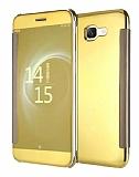 Eiroo Mirror Cover Samsung Galaxy J7 Max Aynalı Kapaklı Gold Kılıf