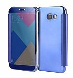 Eiroo Mirror Cover Samsung Galaxy J7 Prime Aynalı Kapaklı Dark Blue Kılıf