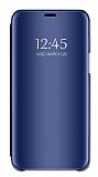 Eiroo Mirror Cover Samsung Galaxy M20 Aynalı Kapaklı Lacivert Kılıf