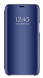 Eiroo Mirror Cover Samsung Galaxy M30 Aynalı Kapaklı Lacivert Kılıf