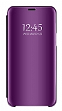 Eiroo Mirror Cover Samsung Galaxy M30 Aynalı Kapaklı Mor Kılıf
