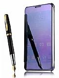 Eiroo Mirror Cover Samsung Galaxy Note 4 Aynalı Kapaklı Lacivert Kılıf